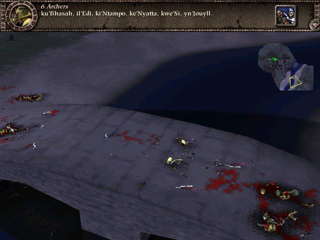 """Podstawowy element każdego pola bitwy w """"Mythu"""" - strzały, które nie trafiły w cel."""