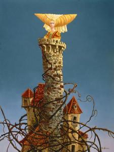 Księżniczka uwięziona w wieży, tu w wizji Jamesa C. Christensena
