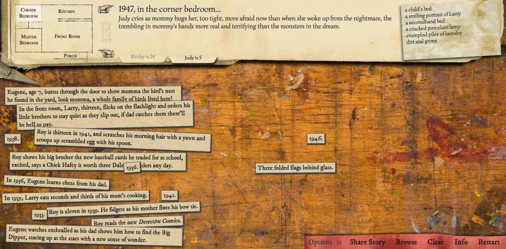 Krótka i smutna historia trzech braci, ułożona przez Emily Short.