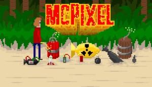 WTEM! W czasie przerwy na łezkę znienacka pojawia się McPixel. Jego twórca, Sos Sosowski, też się pojawi, nie wiem, czy znienacka, na Pixel Heaven.