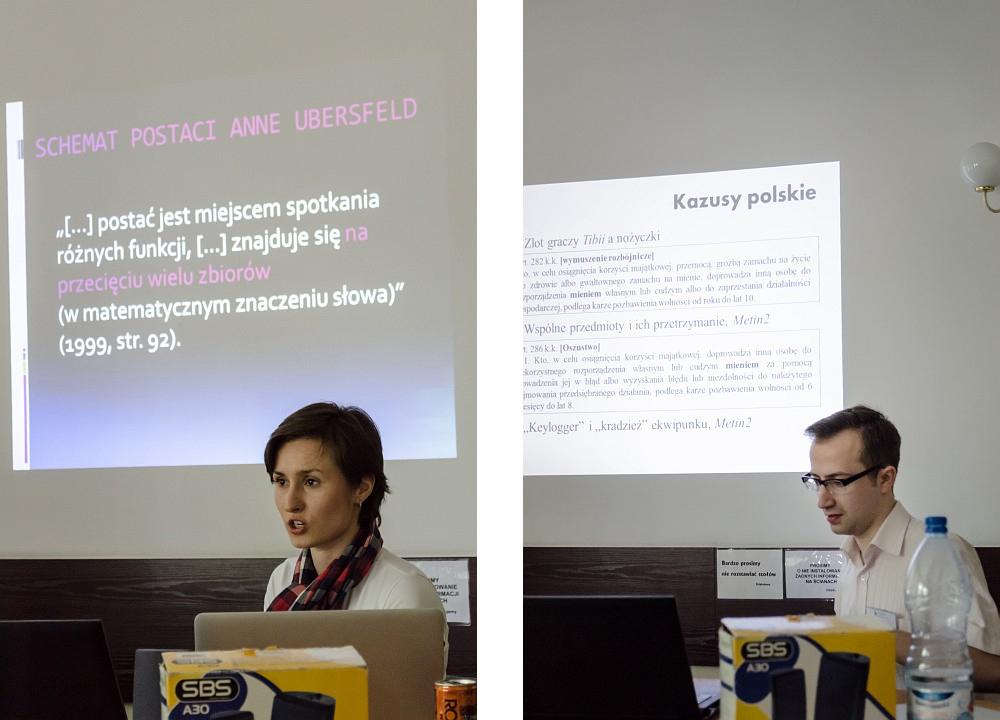 """Sonia Fizek, """"Model badania postaci grywalnej w grach typu cRPG - Pivoting the Player""""; Adam Olczyk, """">. Polskie prawo karne a > przedmiotu w grze komputerowej"""