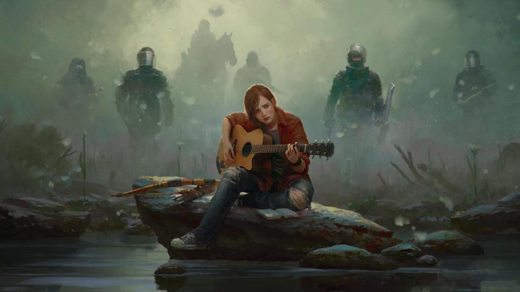 Fan art Ellie grającej na gitarze. Autorem jest Marek Okoń.