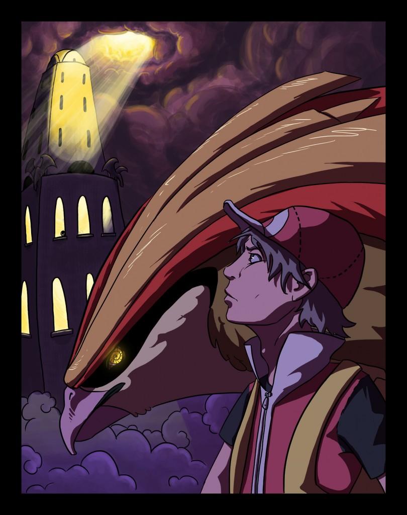 Bird Jesus i Red w drodze do Pokemon Tower